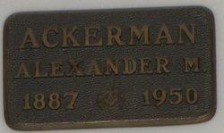 Alexander M Ackerman