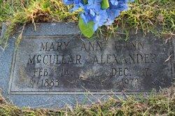 Mrs Mary Ann <i>Gann</i> Alexander