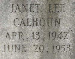Janet Lee Calhoun