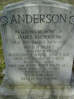 Margaret Anne <i>Sinclair</i> Anderson