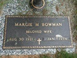 Margie Marie <i>Alger</i> Bowman