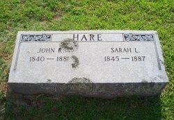 Sarah Lee Trannie <i>Cockman</i> Hare