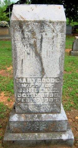 Mary Jane <i>Goode</i> Lentz