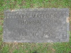 Sara <i>Matlock</i> Thornburgh