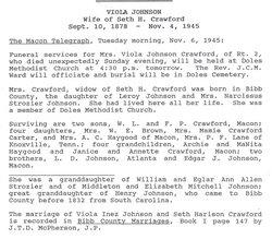 Viola Inez <i>Johnson</i> Crawford
