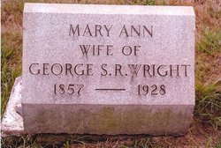 Mary Ann <i>Wilbraham</i> Wright