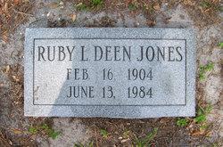Ruby L <i>Deen</i> Jones