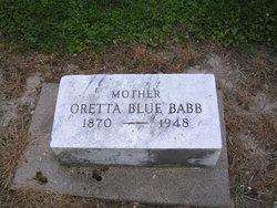Oretta <i>Blue</i> Babb