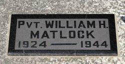 Pvt William Henry Matlock