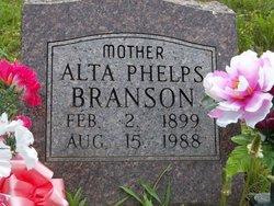 Alta <i>Phelps</i> Branson