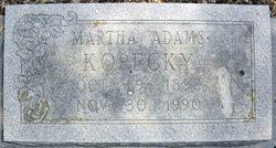 Martha Edith Mattie <i>Adams</i> Kopecky