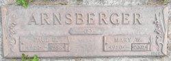 Mary W. <i>Dinsmore</i> Arnsberger