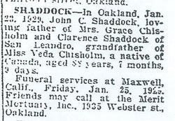 John Charles Shaddock