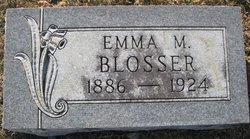 Emma M <i>Rodgers</i> Blosser