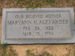 Maryann H Alexander
