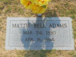 Mattie <i>Bell</i> Adams