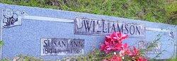 Susan Ann <i>Hill</i> Williamson