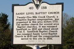 Sandy Level Baptist Church Cemetery
