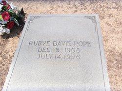 Rubye <i>Davis</i> Pope