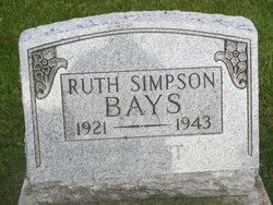 Ruth <i>Simpson</i> Bays