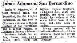 James W Adamson