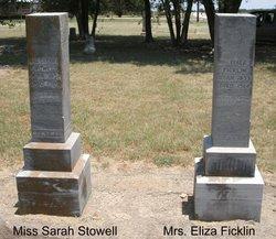 Eliza Jane <i>Stowell</i> Ficklin