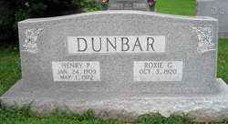 Roxie Gladys <i>Gadberry</i> Dunbar