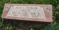 Alta L. <i>Geisler</i> Asche