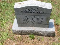 Alice <i>Lupo</i> Armstrong