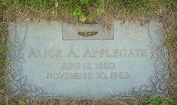 Alice A <i>Clegg</i> Applegate