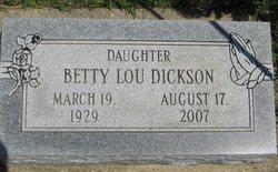 Betty Lou Dickson