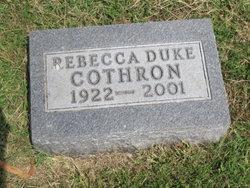 Rebecca E. <i>Duke</i> Cothron