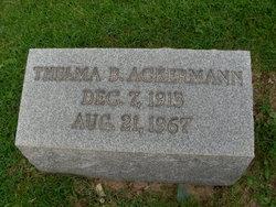 Thelma <i>Burgess</i> Ackermann