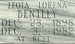 Leota Lorena <i>Connell</i> Bentley