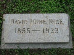 David Hume Rice