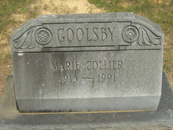 Marie <i>Goolsby</i> Collier