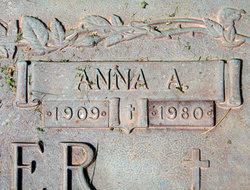 Anna A. <i>Tuggle</i> Bergheger
