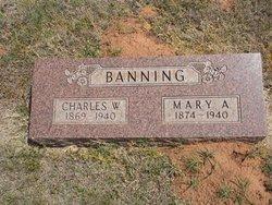 Mary A <i>McDaniel</i> Banning