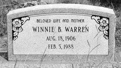 Winnie B. <i>Hooks</i> Warren