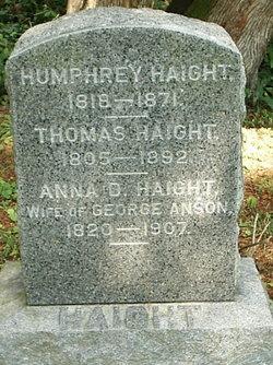 Anna D <i>Haight</i> Anson