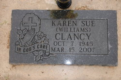 Karen Sue <i>Williams</i> Clancy