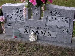 Wealtha L. <i>Denton</i> Adams
