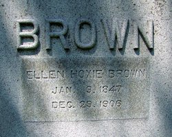 Ellen <i>Hoxie</i> Brown