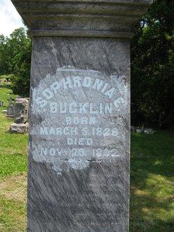 Sophronia E Bucklin