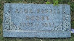 Alma <i>Farris</i> Boone
