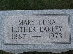 Mary Edna <i>Stover</i> Luther-Earley