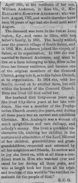 Elizabeth <i>Edmiston</i> Anderson