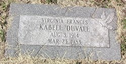 Virginia Frances <i>Kabell</i> Duvall