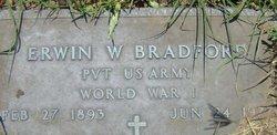 Pvt Erwin W. Bradford