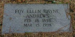 Foy Ellen <i>Rhyne</i> Andrews